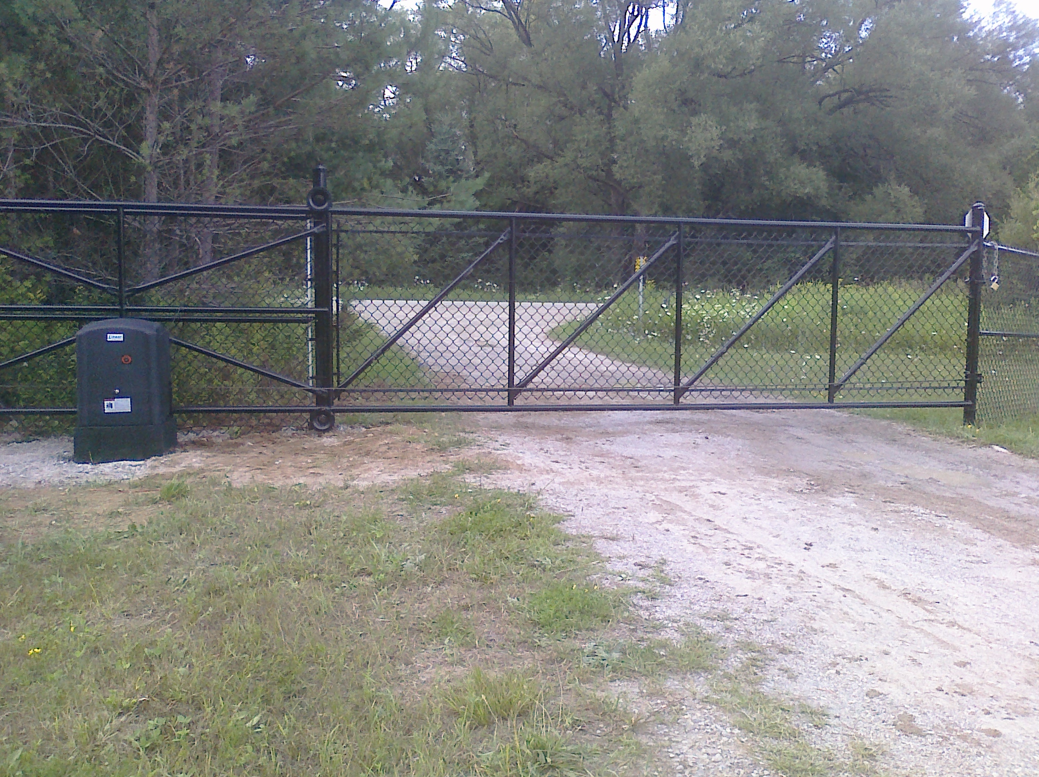 driveway security Sliding Steel Gate & Operator